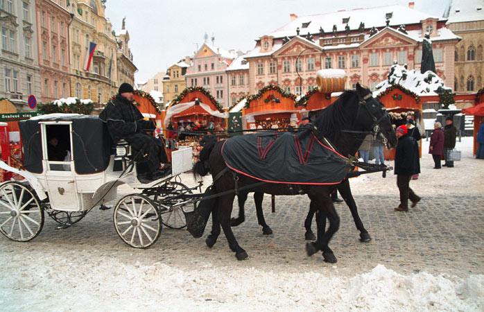 Prahas mest ikoniske julemarked på det gamle bytorget