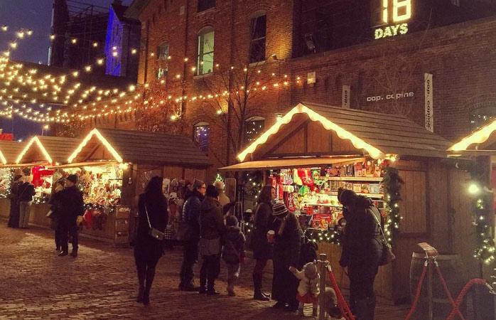Jul med en sjarmerende kanadisk vri i Torontos Distillery District