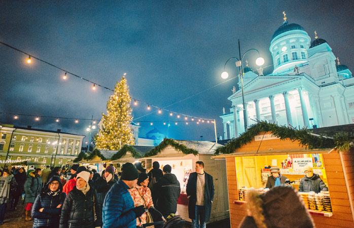 Møt selveste julenissen på julemarkedet i Helsingfors