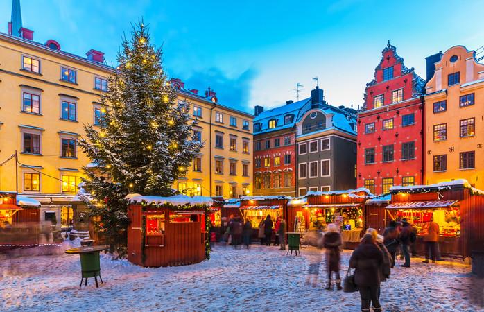 Det stemningsfulle julemarkedet i Gamla Stan i Stockholm