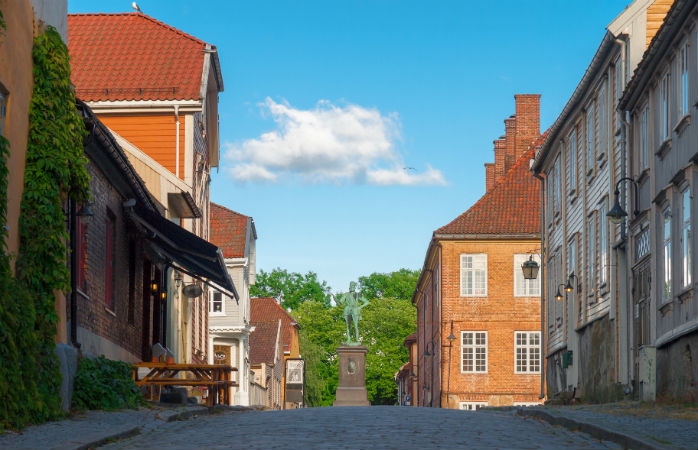 Fredrikstad i Norge